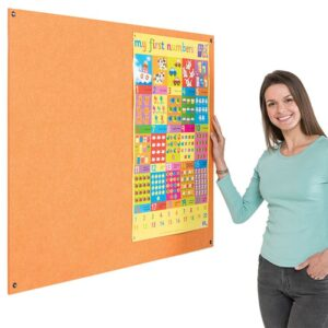 Eco-Colour Frameless Resist-a-Flame notice board - 1200 x 1200mm