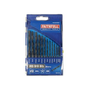Faithfull HSS Drill Bit Set of 13 1.5 - 6.5mm