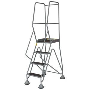 Fort Gamma Easy Glide Mobile Safety Steps with 6 Aluminium Treads - 2500 x 1100 x 1280mm