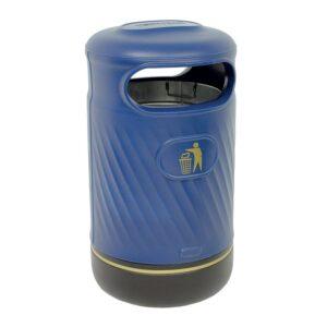 Harribin 100L outdoor litter bin with stubber plate - black