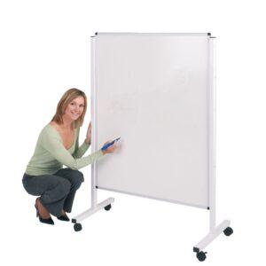 Height adjustable mobile whiteboard 1200x900