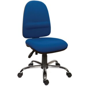 High back operator chair with lumbar support - Blue