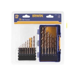 IRWIN® HSS Titanium Metal Drill Bit Set, 15 Piece