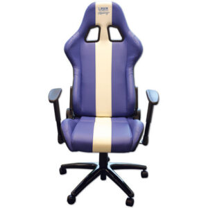 Laser Laser 6654 Racing Office Chair (Blue/White Stripe)