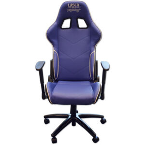 Laser Laser 6655 Racing Office Chair (Blue/White)