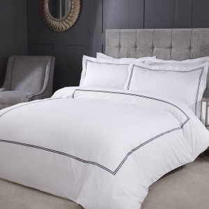 Mayfair Embroidered Duvet Set (Single) with Oxford Pillowcase