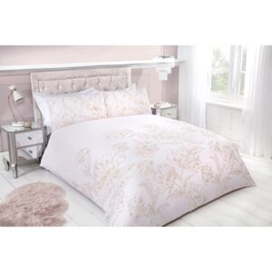 Metallic Floral Double Duvet Set