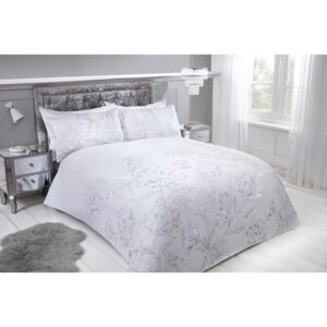 Metallic Floral King Duvet Set