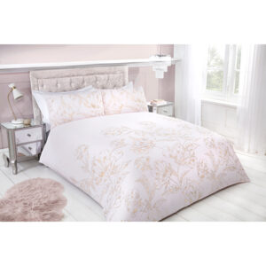 Metallic Floral Super King Duvet Set