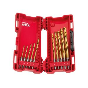 Milwaukee Power Tools SHOCKWAVE™ HSS-Ground Titanium Metal Drill Bit Set, 10 Piece