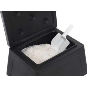 Mini Grit Bin Black 30 Litre with 10kg salt
