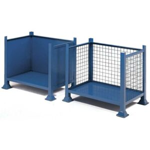 Open Front Steel Pallet - Solid Sides - 460 x 610 x 610mm
