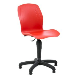 Polypropylene Industrial Swivel Chair with Glides, High Lift 550-800 h