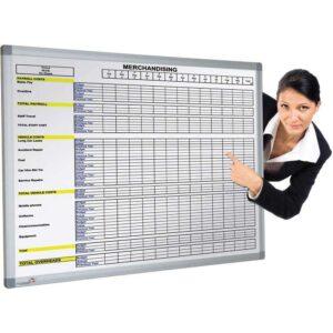 Pre-Printed Magnetic Whiteboard - 1200 x 900