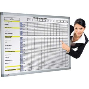 Pre-Printed Magnetic Whiteboard - 1800 x 1200