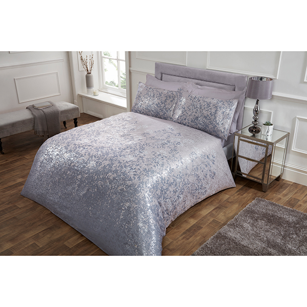 Printed Jacquard Leaves Double Duvet Set