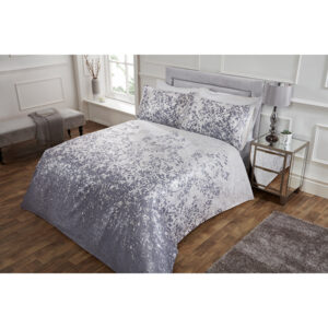 Printed Jacquard Leaves Super King Duvet Set