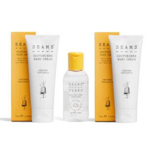 SEAMS Twinpack Couturiers Hand Cream 75ml with Complimentary Hand Sanitiser 50ml