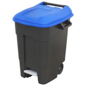 Sealey Sealey BM100PB Refuse/Wheelie Bin with Foot Pedal 100L - Blue