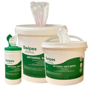 Swipes Antiviral Safe Wipes - 4 x 6 litre tubs of 400 wipes (1600 wipes)