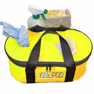 Virapod Emergency Sanitising Kit 2 - Black Bag