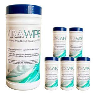 Virawipe High Performance Surface Sanitiser Wipes - 6 Tubs