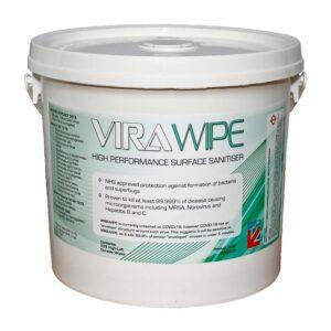 Virawipe High Performance Surface Sanitiser Wipes Pallet of 150 Tubs of 225 Wipes